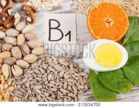 Products Containing Vitamin B1, Natural Minerals And Dietary Fiber, Healthy Nutrition