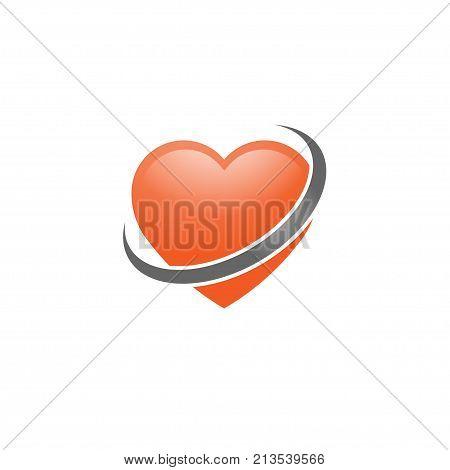 Heart icon vector logo, Heart logo, heart shape, love logo concept, Heart logo