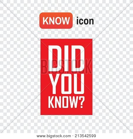 Did You Know . Did You Know Red Tag Background Illustration