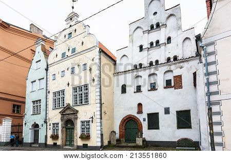 Three Brothers Houses On Maza Pils Street In Riga