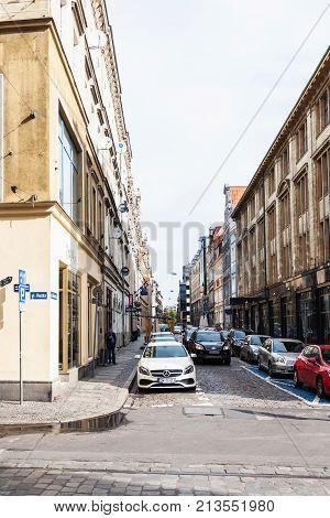 Ruska And Rzeznicza Streets In Wroclaw City