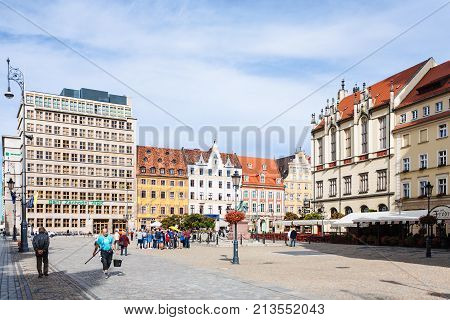 Tourists On Market Square (rynek) In Wroclaw