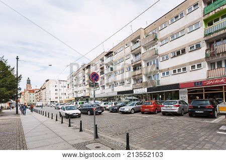 Wita Stwosza Street In Wroclaw City In Autum