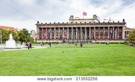 People Near Altes Museum (old Museum) In Berlin
