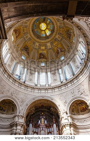 Decorated Walls In Berlin Cathedral (berliner Dom)