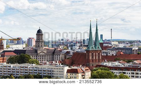 Berlin City With Nikolaikirche And Altes Stadthaus