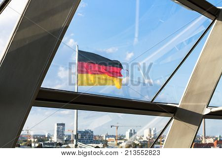 Glass Windows Of Reichstag Building In Berlin