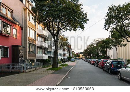 Residential Quarter In Bremen City