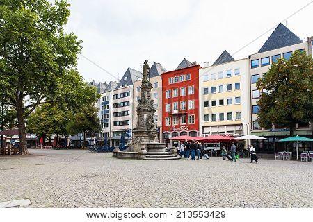 Old Market (alter Markt) Square In Cologne City