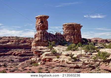 Blanding, USA, Rock formations in the Canyonlands National Park in the USA.