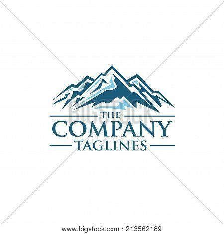 Mountains vector logo concept, Mountain Expedition, adventure Vector template concept