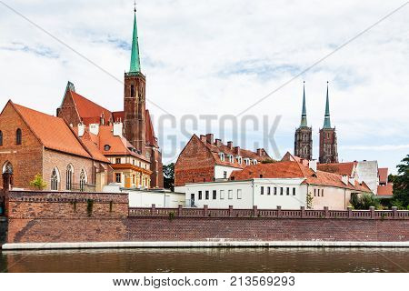 View Of Building Of Collegiate Church In Wroclaw