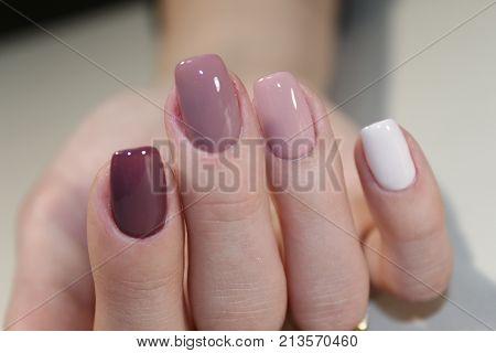 Nail Art Manicure. Beauty Hands.