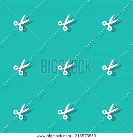 Scissors And Dots Haircutter Accessory Seamless Pattern