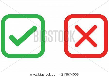 Check Mark Wrong Mark Vector & Photo (Free Trial) | Bigstock