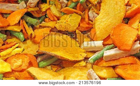 Background Of Vegetables With Carrot String Bean