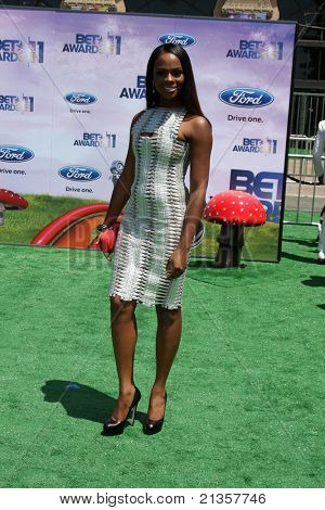 LOS ANGELES - JUN 26:  Tika Sumpter arriving at the 11th Annual BET Awards at Shrine Auditorium on June 26, 2004 in Los Angeles, CA