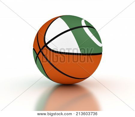 Pakistani Basketball Team (isolated with clipping path)