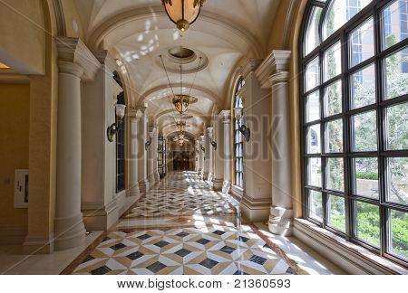 Luxury Classic Colonnade Corridor