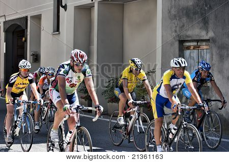 Group Of Senior Cyclists