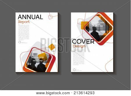 red square abstrac background modern cover design modern book covert Brochure cover templateannual report magazine and flyer layout Vector a4
