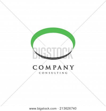 ellipse concept, abstract ellipse badge, blank button template, plate logo concept