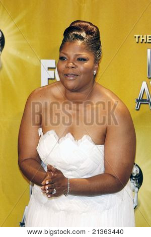 LOS ANGELES - FEB 26: Mo'nique in the press room at the 41st NAACP Image Awards - held at the Shrine Auditorium in Los Angeles, California on February 26, 2010