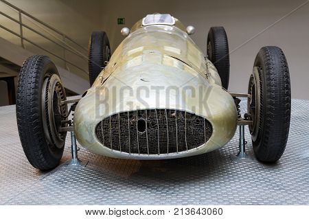 Prague, Czech Republic - November 10: The Mercedes-benz W154 Grand Prix Racing Car Designed By Rudol