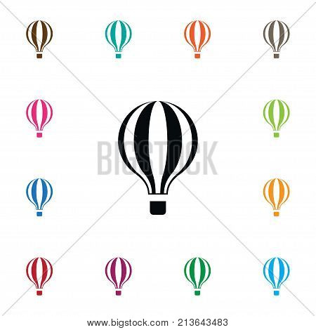 Airship Vector Element Can Be Used For Airship, Balloons, Air Design Concept.  Isolated Fly Icon.