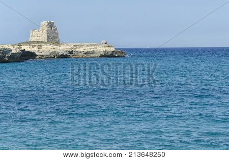 View of the seascape of the South Apulia
