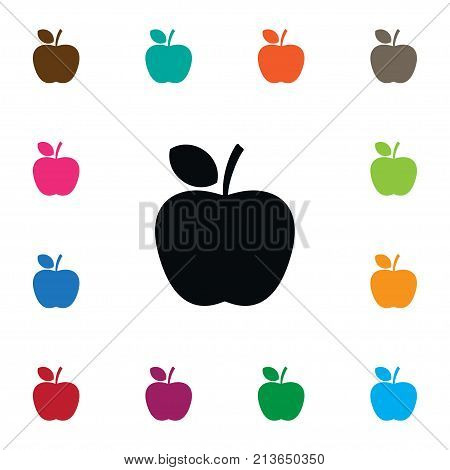Apple Vector Element Can Be Used For Tasty, Apple, Delicious Design Concept.  Isolated Delicious Icon.