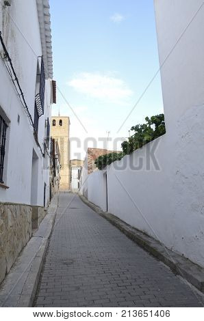 Street Ending At Bell Tower