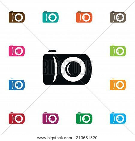 Photographer Vector Element Can Be Used For Capture, Photographer, Camera Design Concept.  Isolated Snapshot Icon.