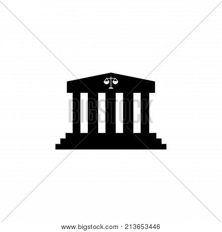 government court building icon on white background