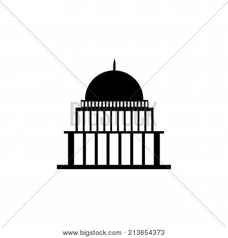 white house congress capitoly building icon on white background