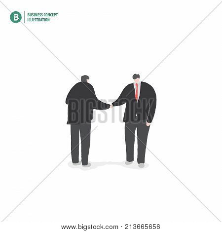 Businessman Handshake Meaning Contract Or Joint Venture Or Collaboration On White Background Illustr