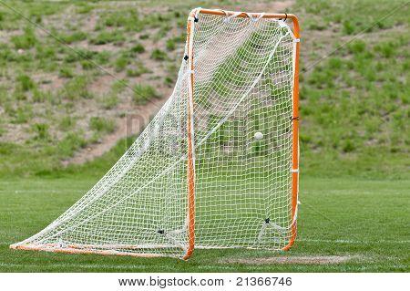 Lacrosse Ball In Net For A Goal