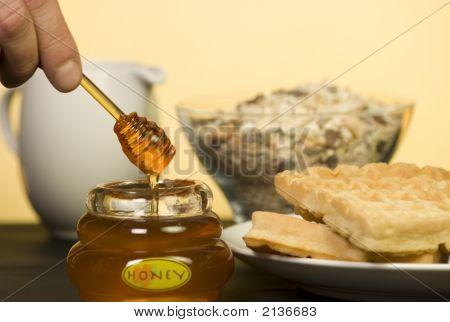 Honey Pot With Waffles.