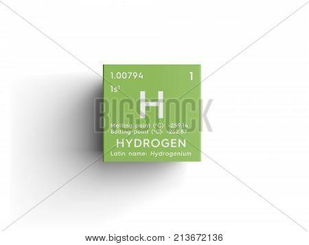 Hydrogen. Other Nonmetals. 3D Illustration.