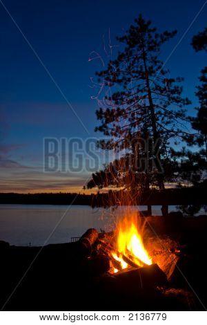 Algonquin Provincial Park Lakeshore Campfire
