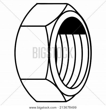 Female-screw nut internal screw bulkhead threaded hole
