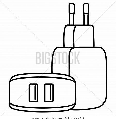 Universal Phone USB Charger Adapter Dual Ports