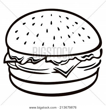 A hamburger, beefburger or burger is a sandwich consisting of one or more cooked patties of ground meat, usually beef, placed inside a sliced bread roll or bun.