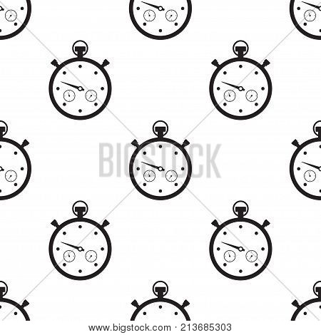 Stopwatch Vector illustration a linear pattern on a white background