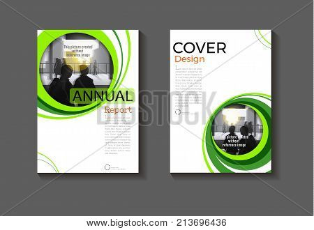 Circle green background modern cover design modern book cover abstract Brochure cover templateannual report magazine and flyer layout Vector a4
