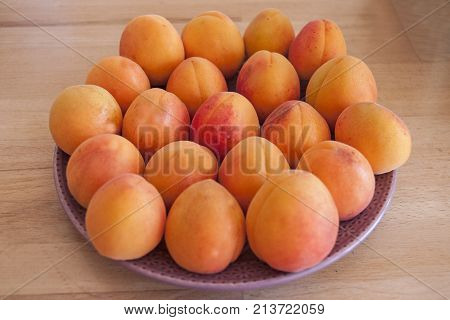 It is image of delicious fruit apricot
