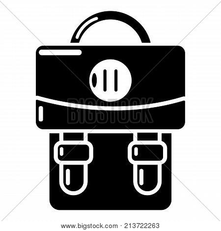 Backpack luggage icon. Simple illustration of backpack luggage vector icon for web