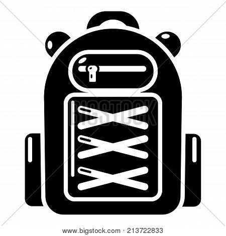 Backpack student icon. Simple illustration of backpack student vector icon for web