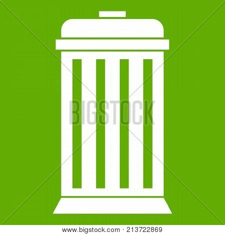 Trash can in simple style isolated on white background vector illustration