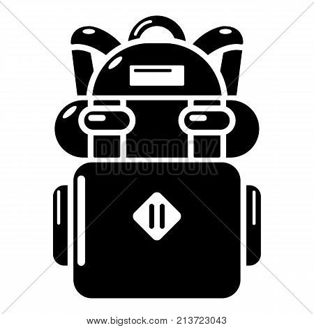 Backpack hiking icon. Simple illustration of backpack hiking vector icon for web